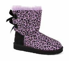 UGG Kids Bailey Bow Rosette Purple Black Size 7 Toddlaer