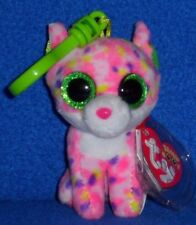 TY BEANIE BOOS - SOPHIE he CAT KEY CLIP - MINT with MINT TAGS
