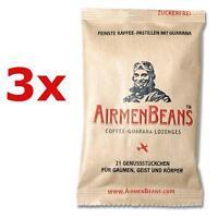 Airmen Beans Kaffee Pastillen Guarana 63 St Bonbons Coffein zuckerf AirmenBeans