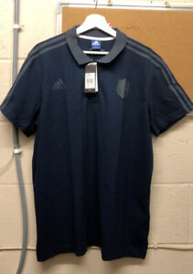 ADIDAS MEN'S FRENCH RUGBY POLO SHIRT XLARGE NAVY