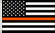 Thin Orange Line American Flag 3x5 ft Search and Rescue Personnel SAR Rescue EMS