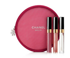 BNIB Authentic Chanel Levres Scintillantes Lip Gloss Trio Set Limited Edition