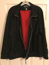 MINI cooper vintage 1998 rover group limited black bomber jacket sz xl rare