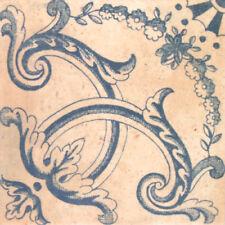 "Spanische Bodenfliese ""Barro Dekor 3"", 20x20 cm, antikes Muster, Wandfliese"