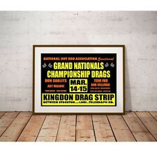 Kingdon Drag Strip 1964 Poster - Lodi California Don Garlits Tommy Ivo