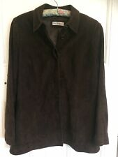 Artigiano Suede Leather Jacket Size 12