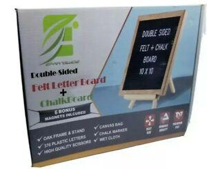 Double Sided Felt Letter Board + Chalkboard. Minimalism. Oak Frame. 376 Letters
