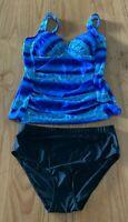 Ladies size 20  TIE DYE tankini  black bottoms  bathers NEW  RRP$40  swimwear