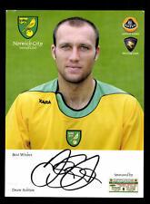 Dean Ashton Autogrammkarte Norwich City Original Signiert+A 159524