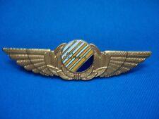 PORTUGAL AIR COLUMBUS PILOT WINGS BADGE 97mm RARE