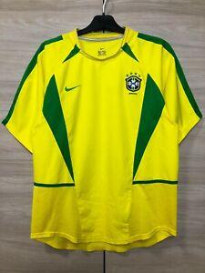 Brazil Brasil 2002-2004 Home Football Shirt Soccer Jersey World Cup size M