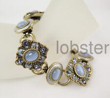 MICHAL GOLAN SKY BRACELET antiqued gold Swarovski Crystal Blue Opal 50% off SALE
