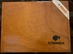 COHIBA Esplendidos Wooden Cigar Box - Empty