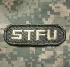STFU SHUT THE F*CK UP ISAF ARMY ACU LIGHT VELCRO® BRAND FASTENER PATCH