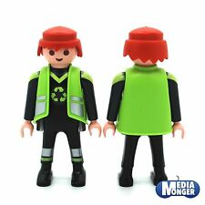 playmobil Waste Disposal Recycling Drove off  Figurine: Garbage man TRUCK Driver