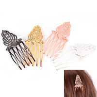 5 Teeth Hair Clip DIY Metal Hair Comb Bridal Jewelry Hair Accessories Pip TB
