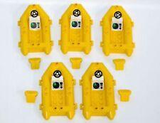 LEGO Yellow Life Raft Boat Lot of 5 w/Jacket Vests Steering Wheel Radar Console
