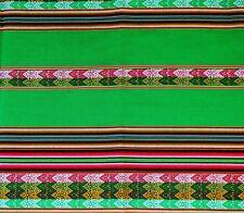 Peru Tischdecke Wandbehang grün bunt 120 x 220 cm Inka Tragetuch Manta extragroß