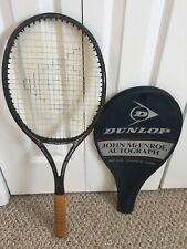 Dunlop John McEnroe AUTOGRAPH  Midsize TENNIS Racket Grip 4 1/2 Collectors Item!