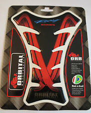 "ORBITAL TANK PROTECTOR GEL PAD - HONDA RACING - BLACK/RED STRIPE - 5.6"" x 7.5"""