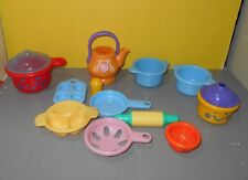 Little Tikes Play Kitchen Baby Bear Doll Feeding Set Sectioned Bowl Dish w/ Pans
