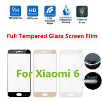 New ! For Xiaomi Mi 6 3D Curved Full Cover 9H Tempered Glass Screen Guard Film