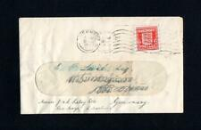GUERNSEY WARTIME 1d USED ON REUSED 1943 COVER