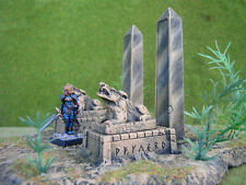 2 pc. Pedestals Thomarillion Unpainted Resin Dwarven Forge D&D