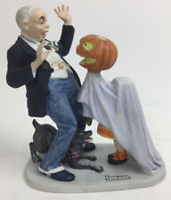 Norman Rockwell Porcelain Figurines Halloween Trick Or Treat 1980 Danbury Mint