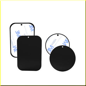 Magnetic Car Phone Holder Replacement Plates Mobile Metal Plate Sticky Pad