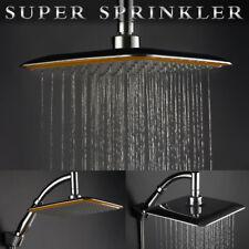 """8""""Cuadrado Cromo Extensión Acero inoxidable Agua lluvia Cabeza de ducha superior"""