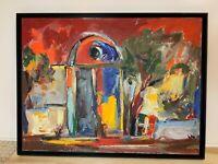 "Gagik Manoukian - Listed Artist - ""Impressionistic Door"" - 2002 - Original Oil"