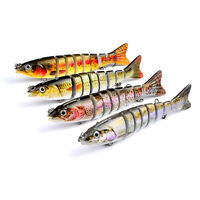 "6"" Multi-jointed 8-segement Pike Fishing Lure Swimbait Crankbait Hard Bait 3C"
