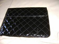 Black Patent Quilted Sleeve Case for Tablet