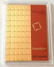 LOOK --- 1 GRAM ,VALCAMBI bar, 999.9 FINE GOLD COMBI BAR-  SEE OTHER GOLD  coins