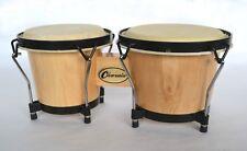 More details for bongos natural wood finish bongo drums 6.5