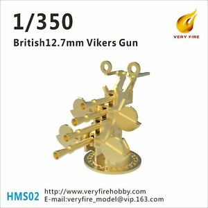 Very Fire 1/350 British 12.7mm Vickers (8 sets) HMS02