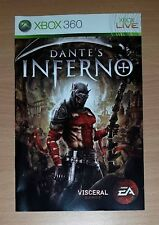 Dantes Inferno Xbox 360 game Replacement manual