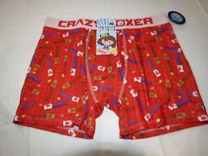 PEZ candy Crazy boxer shorts underwear mens lounge medium red love cbpez01love