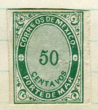 MEXICO; 1879 classic Imperf Official Service issue Mint unused 50c. value