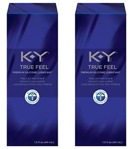 KY True Feel Premium Silicone Lubricant, Non-Irritating, 4.5 Oz (2 Pack)