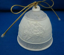 1993 Lladro Spain Christmas Bell Holy Family Mary Baby Jesus Donkey Bisque