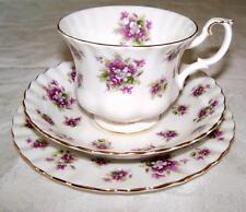 Royal Albert Bone China Sweet Violets Tea Cup & Saucer Trio Gold Trim  VGC