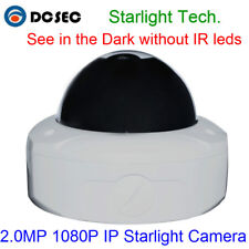 2MP Dome Starlight IP Camera POE 1080P 0.0001Lux Low Lux Day/Night Full Color