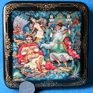 SADKO Lacquer Box SLIGHT SECONDS Genuine Russian hand painted fairy tale ORLOVA