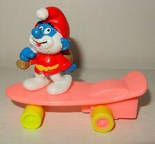 Figurine Grand Schtroumpf Smurf SCHLEICH Père Noël Santa Skate Vintage