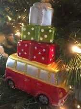 NWT Pottery Barn ~VAN With PACKAGES~ Holiday Ornament ~CHRISTMAS~ VW Bug *RARE*