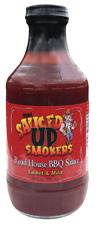 ROAD HOUSE BBQ SAUCE 20oz Bottle KC Style BAR-B-Q NAILS IT! by Sauced Up Smokers