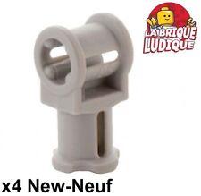 Lego technic - 4x Axe Axle pin connector hole gris/light bluish gray 32039 NEUF
