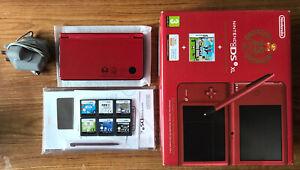 Nintendo DSi XL 25th Anniversary Edition Handheld System Console Bundle +6 Games